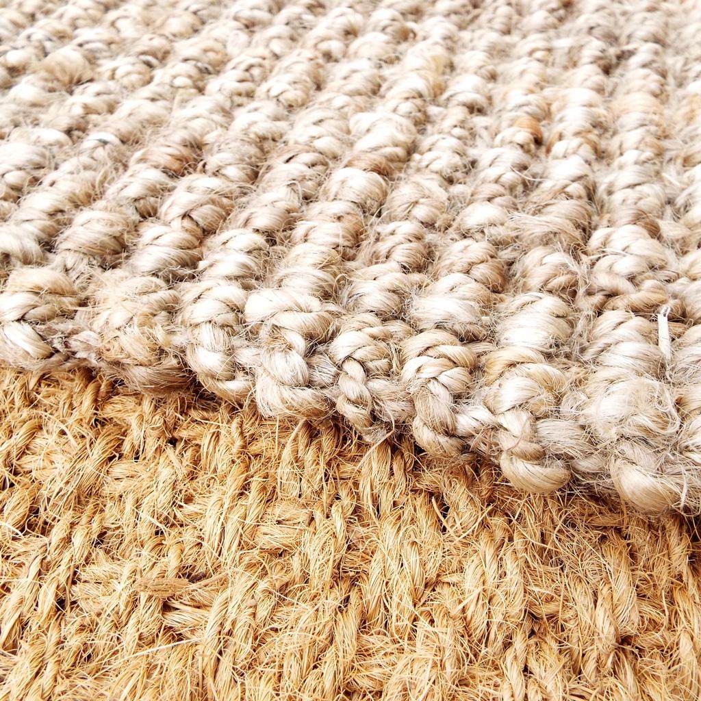 Bouclé Weave Hand Spun Natural Jute Rug